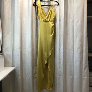 GORGEOUS FOLD SATIN DRESS